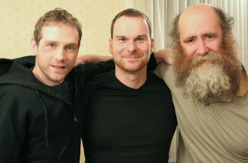 Scott Hinds with 'Uriel' director John Webster and fellow cast member Bill Hutchens.