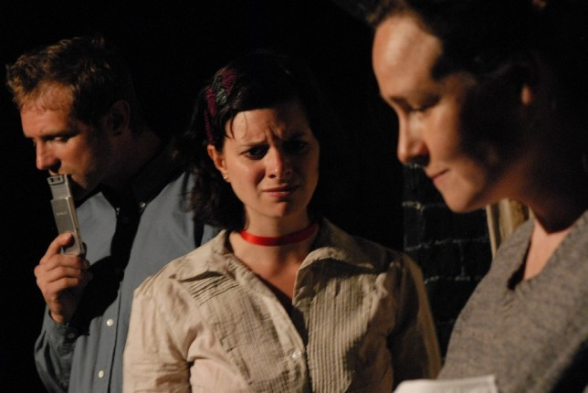 Scott Hinds, Sophie Walton and Scott Hinds and Georgina Sowerby in 'Doggerland'.