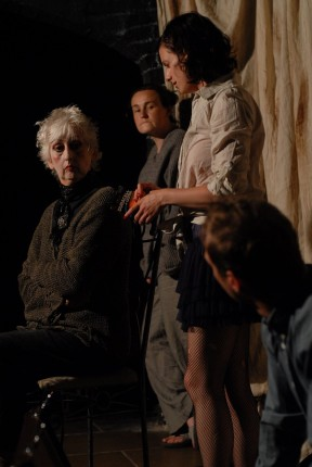 Scott Hinds, Sophie Walton, Jean Apps and Georgina Sowerby in 'Doggerland'.