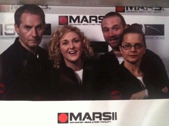 Scott Hinds, Jennifer Rhonwen, Anita Gollschewsky and Tom Cater in 'Mars II'.
