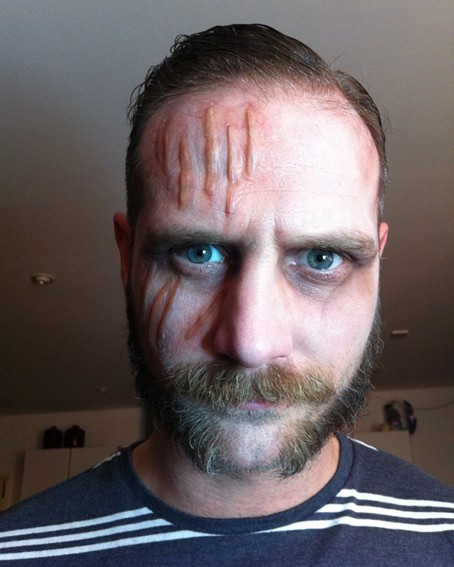 Scott Hinds make up test for 'The Nostalgist'.