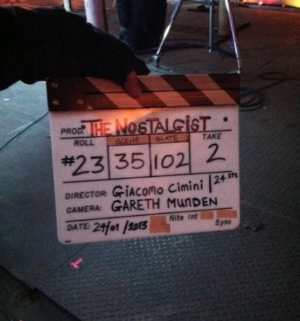 'The Nostalgist' clapper board.
