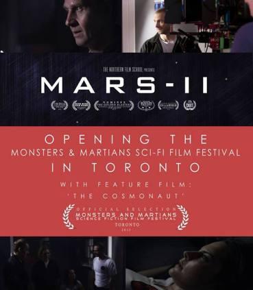 Mars II opening Toronto Monsters & Martians Sci-Fi Film Festival.