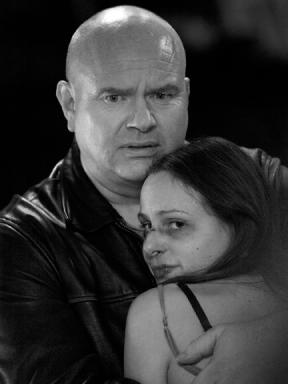 Helen Jenkinson and Ross Ericson in 'The Beast Next Door'.