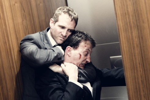 Scott Hinds and Ian Pead in 'The Dispatcher'.