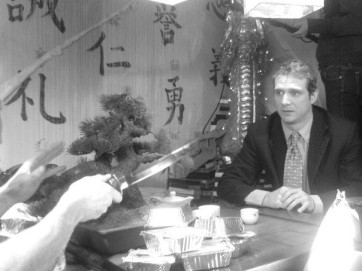 Scott Hinds in 'The Happy Seppuku'.