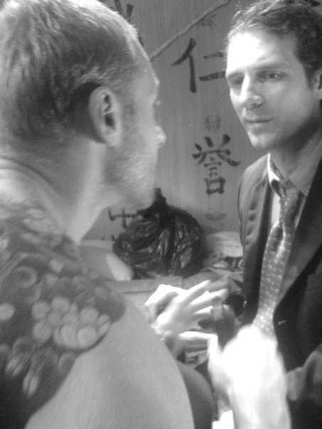 Scott Hinds and Grant Anthony in 'The Happy Seppuku'.