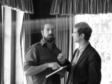 Scott Hinds with Director of 'The Happy Seppuku', Giacomo Cimini.