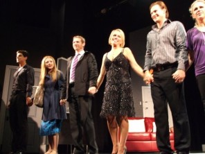 Scott Hinds and the cast of 'The Pretender Agenda' final curtain call.