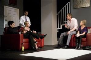 Scott Hinds, Ben Jones, Sue Devaney, Vincenzo Pellegrino and Lucy Benjamin in 'The Pretender Agenda'.