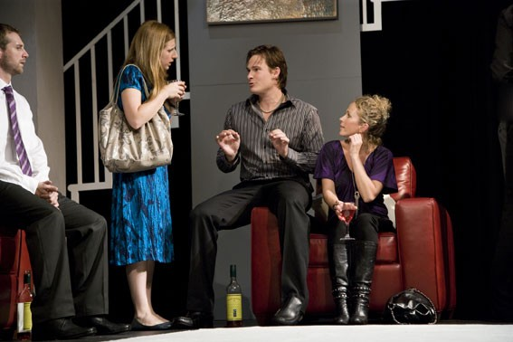 Scott Hinds, Emily Aston, Lee Ryan and Lucy Benjamin in 'The Pretender Agenda'.