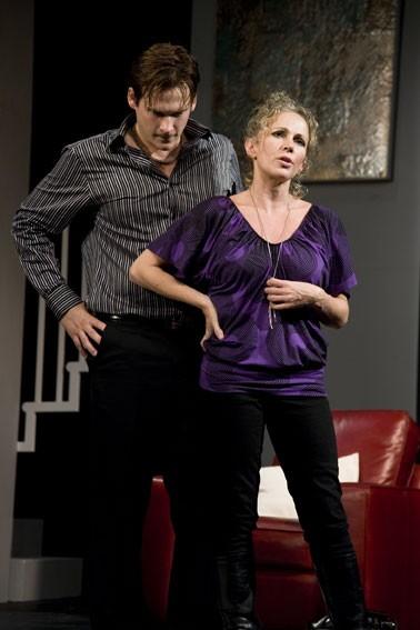 Lee Ryan and Lucy Benjamin in 'The Pretender Agenda'.