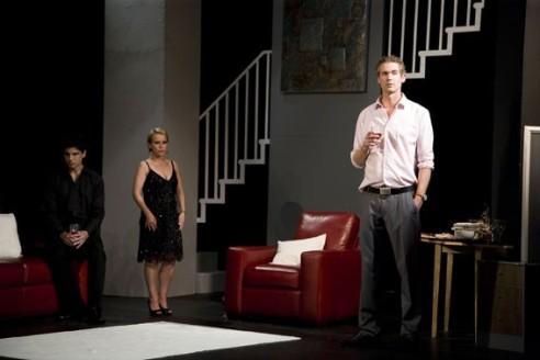 Ben Jones, Sue Devaney and Vincenzo Pellegrino in 'The Pretender Agenda'.