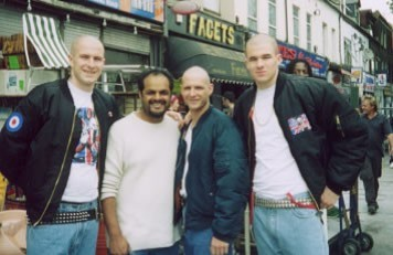 Scott Hinds with Director Puneet Sira and fellow cast members on 'I Proud to be an Indian'.