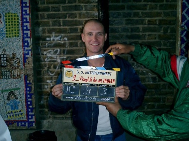 Scott Hinds during filming of 'I Proud to be an Indian'.