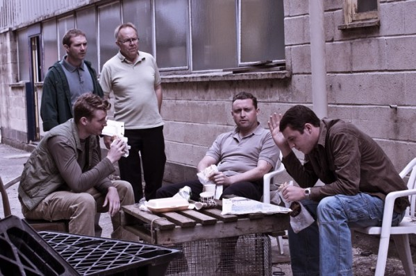 Scott Hinds, Phil Nice, Joe Jackson, Scott Toms and Benjamin Noble in 'Tortoise'.