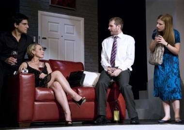 Scott Hinds, Ben Jones, Sue Devaney and Emily Aston in 'The Pretender'.