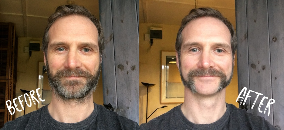 Scott Hinds Beard transformation for the film 'Eye For An Eye'.